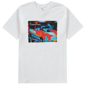 New SUPREME YOHJI YAMAMOTO Game Over White T-Shirt